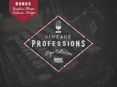Vintage Professions Logos logo label vintage retro badge emblem designer music writer radio