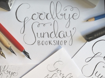 Goodbye Sunday calligraphy hand lettering lettering script hand