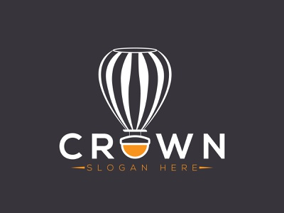 Hot Air Balloon Logo Design vector minimal logo design logodesign flat logo illustrator design branding brand identity