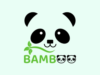 Panda logo design minimal logo design illustration logodesign flat logo illustrator design branding brand identity