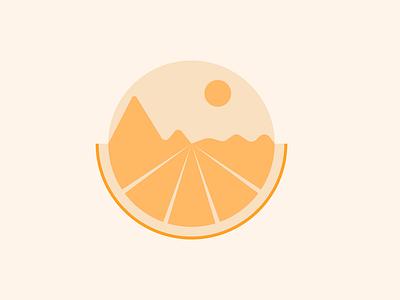 Orange illustration wallpaper vector design color landscape fruit orange