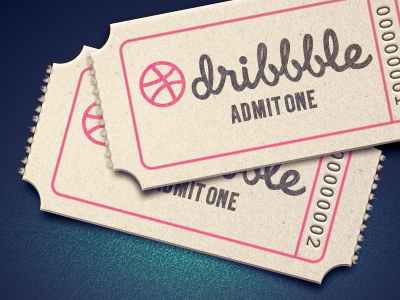 Admit one dribbble prew
