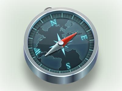 Safari app brushed metal metal mac set compass aluminum safari icon vector fireworks adobe fireworks browser steel