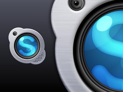 Skype V2 skype icon mac brushed metal adobe fireworks fireworks vector