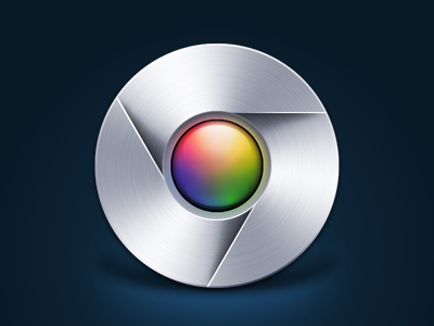 Chrome google chrome icon vector fireworks adobe fireworks brushed metal mac