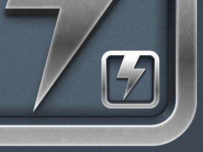 Foliozo foliozo icon ipad metal steel lightning bolt adobe fireworks fireworks vector ios
