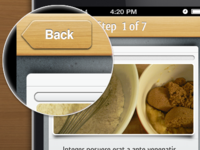 Cooking App UI