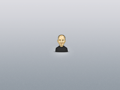 The Hero illustration avatar icon face steve jobs apple