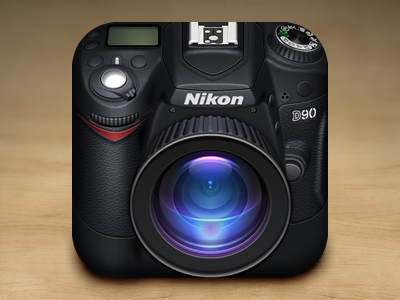 Nikon Camera iOS Icon ios icon camera nikon leather adobe fireworks fireworks vector iphone ipad lens