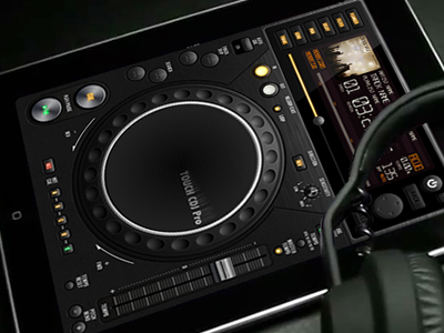 UI Touch CDJ Pro ipad music interface cdj user interface interface design ui design ui mobile vector audio steel fireworks adobe fireworks knob brushed metal metal ios