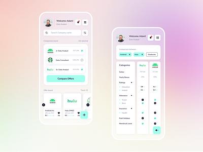 Job Offer Differentiator dashboard ui job app mobile