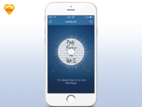 Radio app (day 066) free download sketch gradient music blue radio app