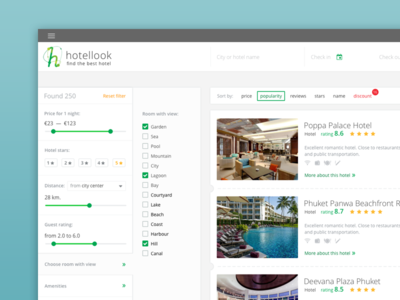 Hotellook app web ux ui travel room hotellook hotel booking