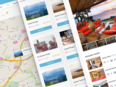 Roomspoint interface web ux ui travel search room hotel filter booking interface app