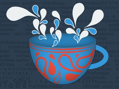 Morning Coffee vector illustration design
