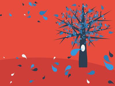 Idea Tree minimal vector illustration design
