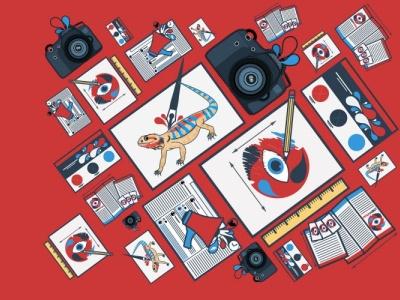 HG Creative Brand Icons branding vector illustration design