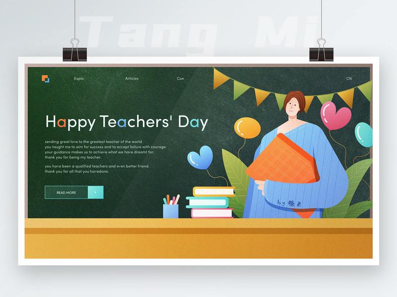 Happy Teachers' Day vector illustration