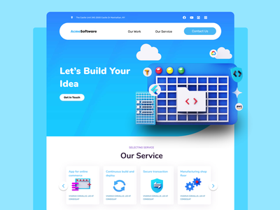 Dribbble website 3d ui web design