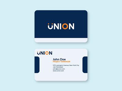Union - Business Card typography concept adobe illustrator minimal ui branding flat logo design logo business card business design card