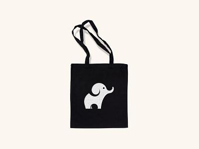 Red Elephant in White bag design elephant business design logo design concept branding vector mockup bag logo minimal adobe illustrator