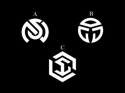 Letters Exploration symbol popular letter black-white simple monogram ux ui illustration logo flat vector concept branding design adobe illustrator