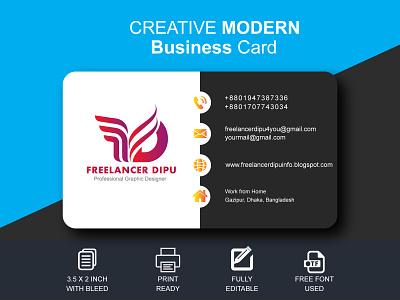 Creative Modern Business Card Design business card design businesscardmockup businesscards businesscard businesscarddesign freelancerdipu illustration graphic design design branding brand identity brand