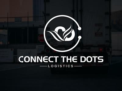 Connect the Dots Logistics logo Design for  trucking business logotype logodesign logos logo logo design flat brand logo design brand logo graphic design freelancerdipu design branding brand identity brand