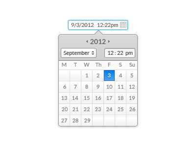 Date//Time Picker by Jake Moore on Dribbble