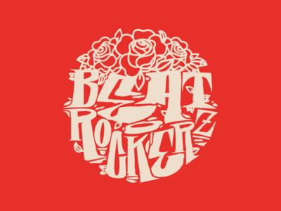 Beat Rockerz identity design vector typography dance crew roses lettering logotype logo