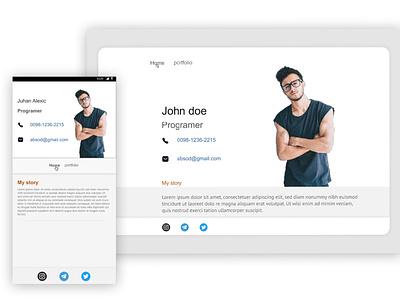 Portfolio portfolio web app minimal design ux ui