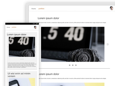 Portfolio minimal portfolio design web ux ui app