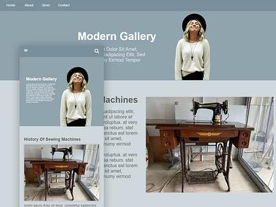 Clothing gallery website design minimal app web ux ui