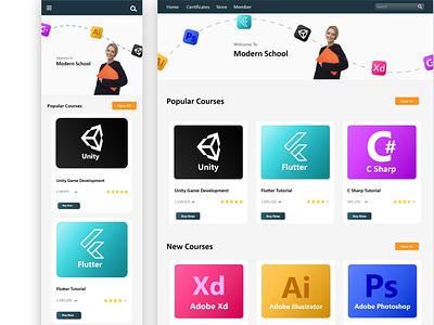 فروشگاه محصولات آموزشی  the store , Learning platform UI design stor mobile art website illustrator graphic design ui
