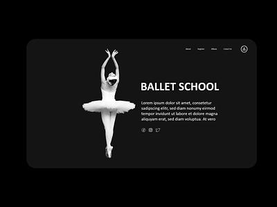 Ballet School Website Design portfolio design web ux ui