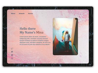 Artist Portfolio Design portfolio design web ux ui