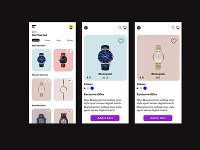 Watch app Ui design app ui ux