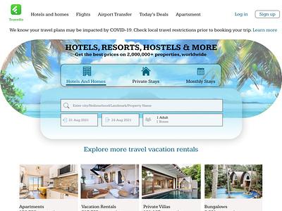 Travello website motion graphics websitedesign landing page ux ui