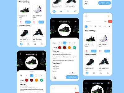 Shoe App UI Design shoe app ui app design shoe interaction design mobile ui design app design mobile ui uiux mobile shoe app ux ui