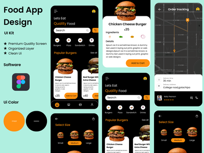 Food App UI Design ui ux mobile uiux mobile ui app design mobile ui design interaction design food design app food app ui