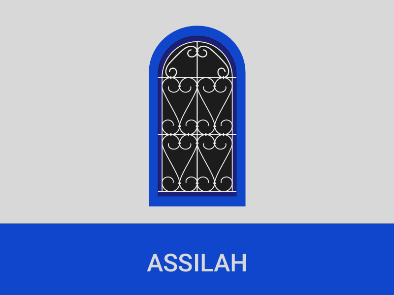 Moroccan Windows - Assilah heritage pattern morocco flat window