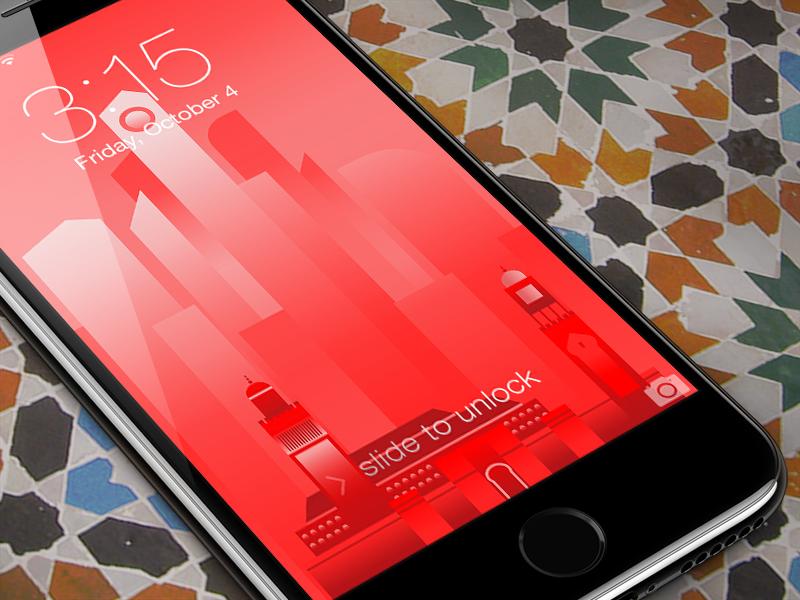 Iphone 7 jet black perspective free mockup
