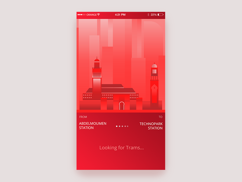 Casablanca Tram ongoing search UI search skyscraper urban city morocco casablanca red time train tram ux ui