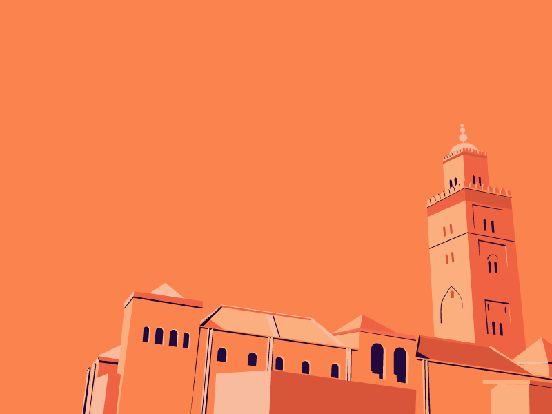 Koutoubia Mosque Minimal free wallpaper architecture mosque minimal flat islamic marrakesh morocco ochre wallpaper
