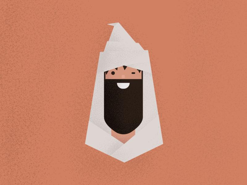 Roots morocco flat illustration