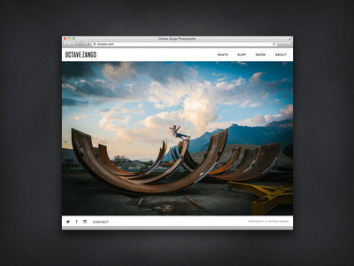 Octave Zangs Photography photography responsive portfolio skateboarding snowboarding surf