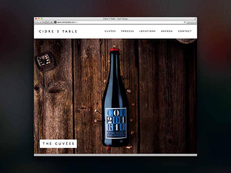 Cidre 2 Table Website parallax cider bottle responsive html5 css photos normandy france apple