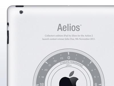 Laser-Engraved Aelios iPad 2 Back