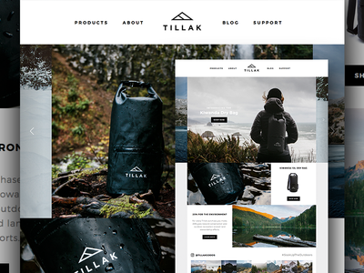 Tillak dry bag ruby on rails store conservation environment shop online ecommerce brand outdoor