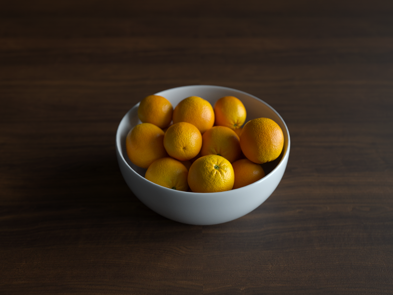 Orange Bowl 3d hdri walnut bowl orange octane cinema 4d c4d